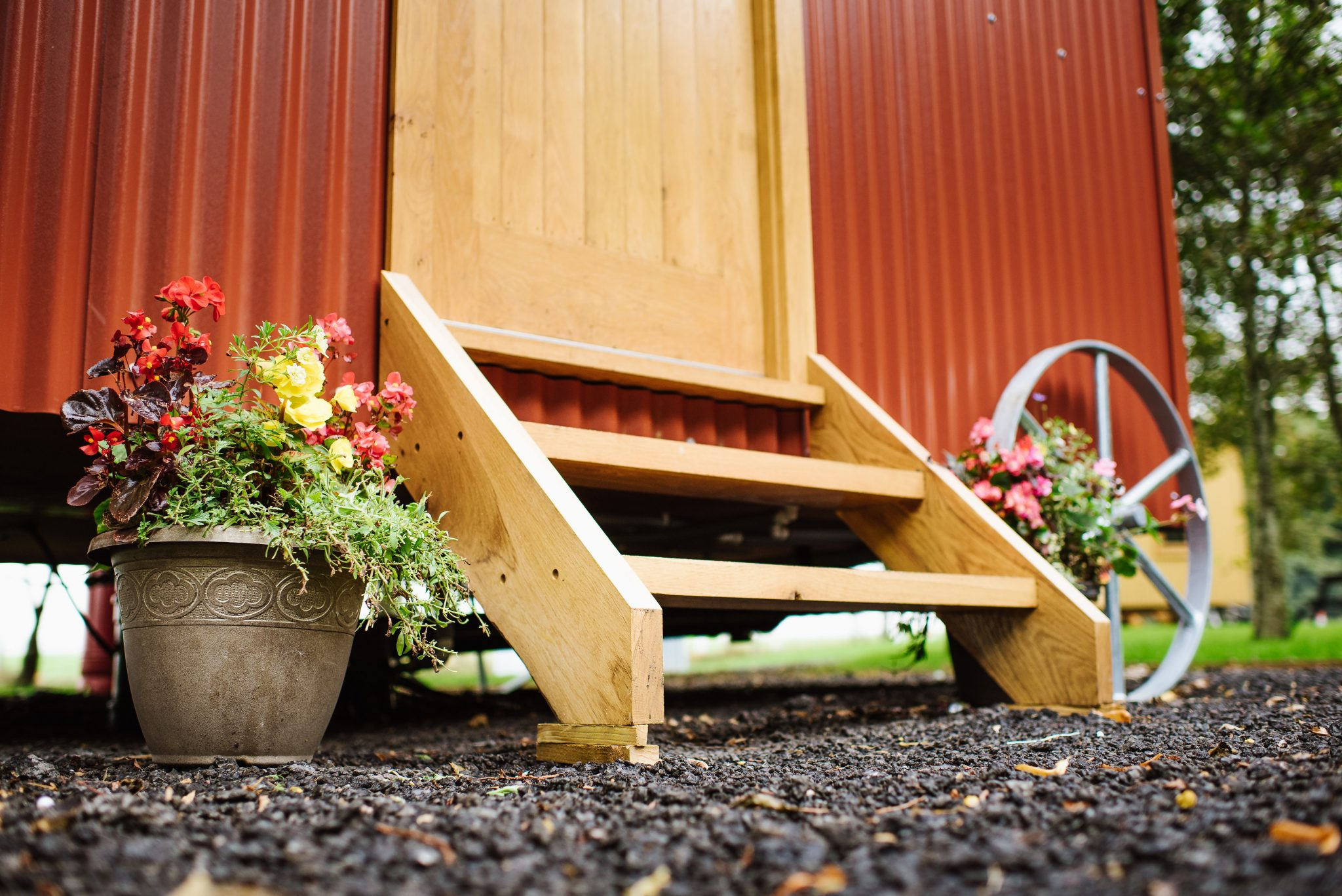 Shepherds Huts handcrafted windows doors and entrance steps