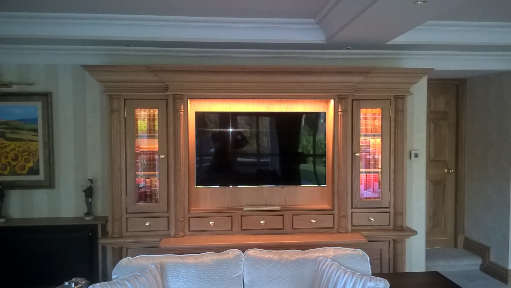 Traditional TV display cabinet